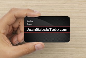 rounded Corners Business Card 14pt