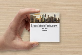 Square Standard Business Card 14pt
