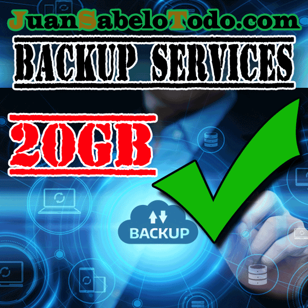 Weekly backup 20GB Monthly subscription